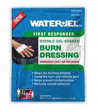 "WATER GEL BURN DRESSING 2"" X 6"" ( 05 X 15 CM ) USA"