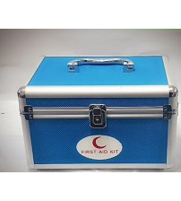 FIRST AID BOX ALUMINIUM BLUE SMALL CHINA