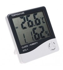 THERMOMETER HYGROMETER - TEMPERATURE HUMIDITY CLOCK - HTC-1 DIGITAL