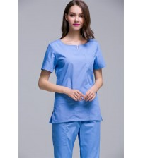 O.T DRESS SKY BLUE BLUE ROUND NECK FEMALE EXTRA LARGE