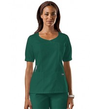 O.T DRESS GREEN ROUND NECK  FEMALE SMALL