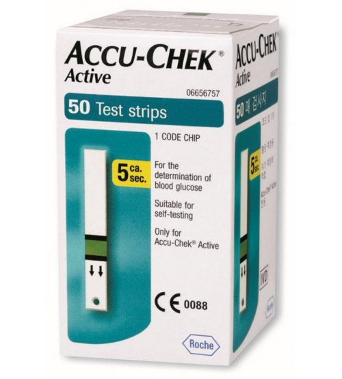 GLUCOMETER TEST STRIPS - ACCU-CHEK ACTIVE - 50 STRIPS