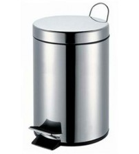 WASTE BIN PEDAL OPERATED STAINLESS STEEL - 12 LITER