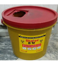 SHARP CONTAINER BUCKET TYPE LOCAL