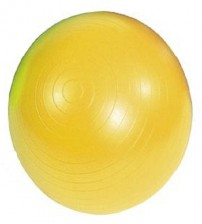 MAMBO MAX AB GYM BALL - 45 CM - YELLOW - FASTER BLASTER PUMP