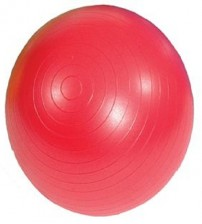 MAMBO MAX AB GYM BALL - 55 CM - RED - FASTER BLASTER PUMP