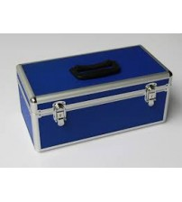 FIRST AID BOX ALUMINIUM BLUE LARGE CHINA